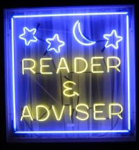 psychic-reader neon sign